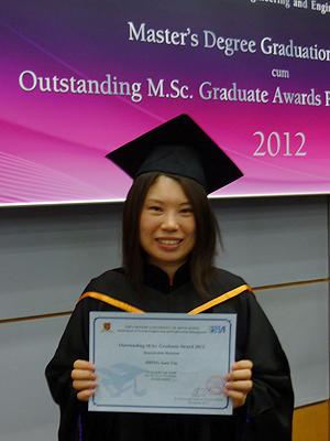 April Shing, M.Sc. SEEM 2012 Graduate