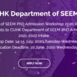CUHK Department of SEEM PhD Admission Workshop 2020