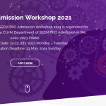 SEEM PhD Workshop 2021 News